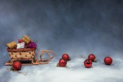 Happy Merry Christmas image. Abstract holidays image with some Christmas decor stock photography