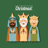 Happy merry christmas manger character Stock Image