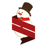 Happy merry christmas snowman card Royalty Free Stock Photography