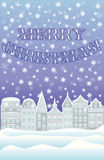 Happy Merry Christmas winter card Stock Images