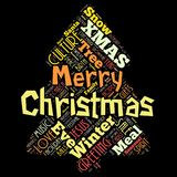 Happy Merry Christmas in the World royalty free illustration