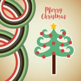 Happy merry tree christmas character Royalty Free Stock Photos