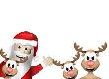 Happy Mery Christmas Faces Stock Photos