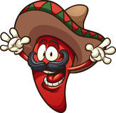 Mexican pepper. Happy Mexican chili pepper. Vector clip art illustration with simple gradients. All in a single layer vector illustration