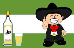 Happy mexican mariachi cartoon expressions background Stock Photos