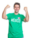 Happy mexican sports fan Stock Photos