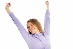 Happy mid age woman Royalty Free Stock Photos