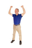 Happy middle age man standing. Royalty Free Stock Images