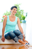 Happy middle age woman Royalty Free Stock Image