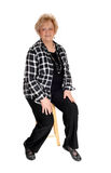 Happy middle age woman. Stock Photos