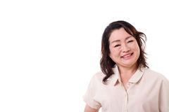 Happy middle aged asian woman Royalty Free Stock Images