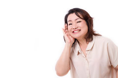 Happy middle aged asian woman Stock Image