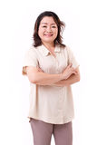 Happy middle aged asian woman Royalty Free Stock Photo