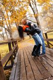 Happy middle-aged couple on autumn day Royalty Free Stock Photo