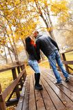Happy middle-aged couple on autumn day Stock Photography