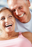 Happy middle aged couple enjoying themselves Royalty Free Stock Photo