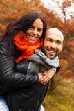 Happy middle-aged couple outdoors Royalty Free Stock Photography