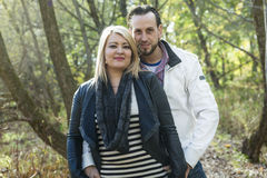 Happy middle aged couple outdoors on beautiful Royalty Free Stock Image