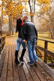 Happy middle-aged couple outdoors Royalty Free Stock Image