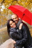 Happy middle-aged couple outdoors Royalty Free Stock Photo