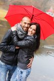 Happy middle-aged couple outdoors Royalty Free Stock Photos