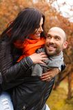 Happy middle-aged couple outdoorss Royalty Free Stock Photo