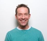 Happy middle aged man smiling Royalty Free Stock Photo
