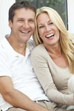 Happy Middle Aged Man and Woman Couple Laughing Stock Photos