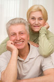 Happy middle-aged men and women together. Laughing, happy middle-aged men and women together Royalty Free Stock Photos