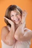 Happy Middle-aged Woman Royalty Free Stock Image