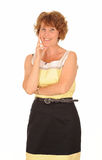 Happy middle aged woman Stock Photography