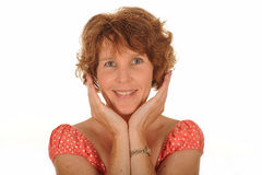 Happy middle aged woman Royalty Free Stock Photo