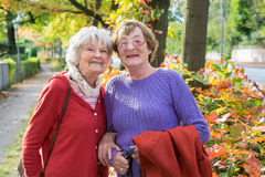 Happy Middle Aged Women in Autumn Outfits. Stock Photography