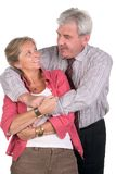 Happy middleaged couple royalty free stock photos