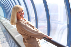 Happy middleaged woman Stock Photos