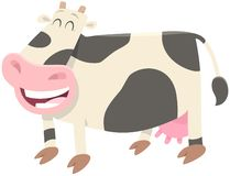 Happy milk cow farm animal character royalty free stock photography