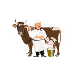 Happy Milkman Stock Image