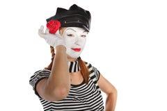 Happy mime portrait Stock Images