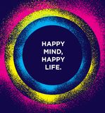 Happy Mind, Happy Life. Inspiring Creative Motivation Quote Poster Template. Vector Typography Banner Design Concept. On Grunge Texture Rough Background Royalty Free Stock Photos