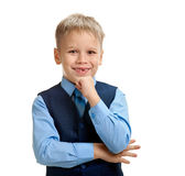 Happy minded schoolboy Royalty Free Stock Photography