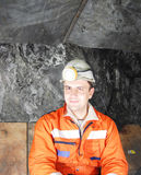 Happy miner portrait Royalty Free Stock Images