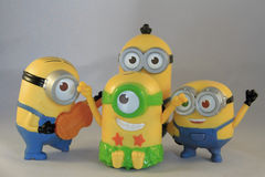 Happy minions Stock Images