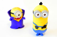 Happy minions toy Stock Image