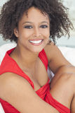 Happy Mixed Race African American Girl Royalty Free Stock Photo