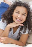 Happy Mixed Race African American Girl Child Stock Images