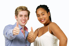 Happy mixed race couple Stock Photography