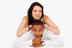 Happy mixed race couple Royalty Free Stock Images