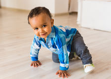Happy Mixed Race Toddler Boy. Happy Mixed Race Toddler Baby Boy indoors Royalty Free Stock Photo