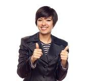 Happy Mixed Race Woman royalty free stock photo
