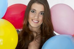 Happy Model Stock Photo